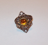 Orange Vintage Stlye Ring