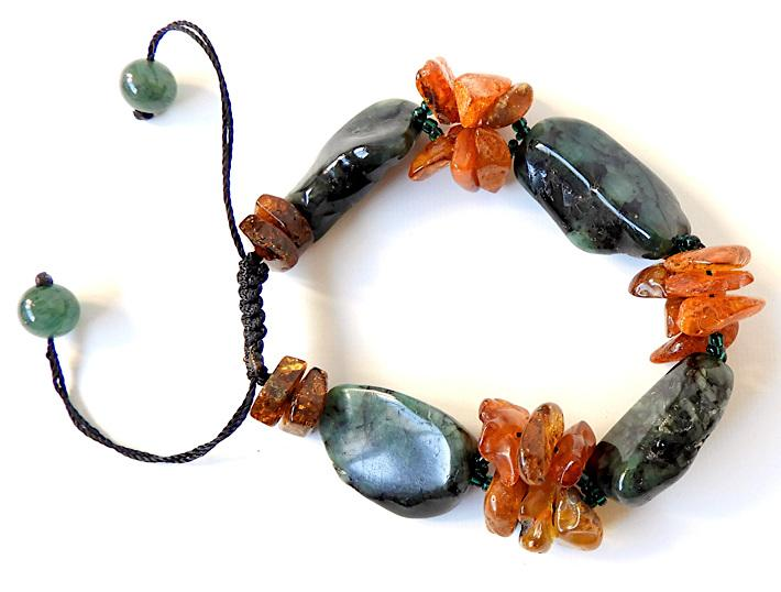 Emerald Bracelet with Baltic Amber