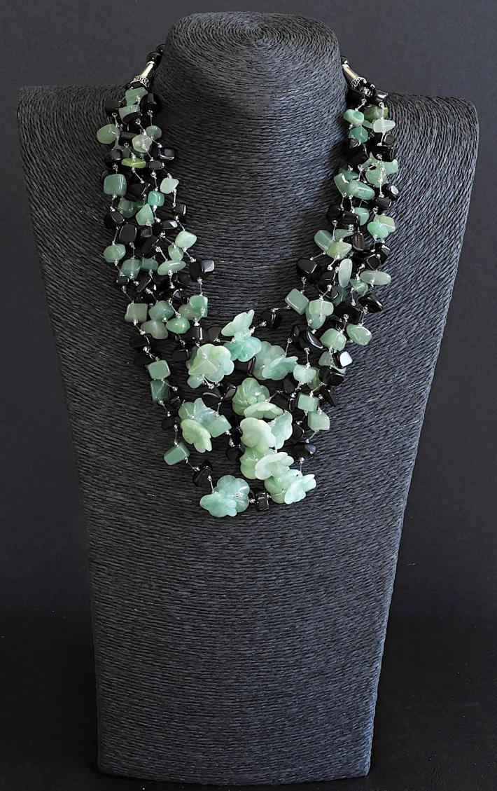 Jade Flower Necklace