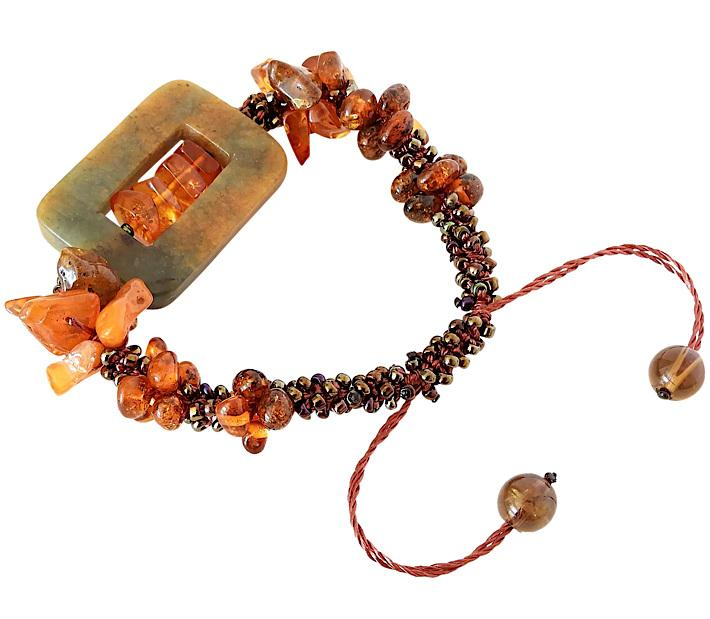 Jasper And Baltic Amber Bracelet