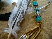 Turquoise Feather Key chain
