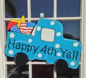 4th of july door hanger