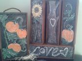Pumpkin Patch of Love   Wine Boxes in Swarovski Crystal