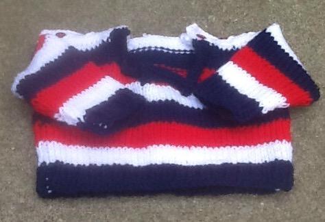 Preemie newborn patriotic coverall set