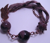 Plum and Copper Bracelet
