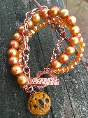 Copper and Crystals and Pearls Oh My Bracelet