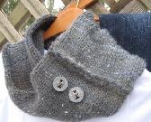 grey fuzzy wool cowl