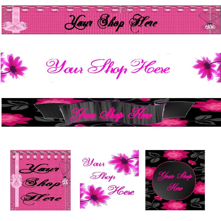 Preset Designs Banner Sets  for your HAF Shop