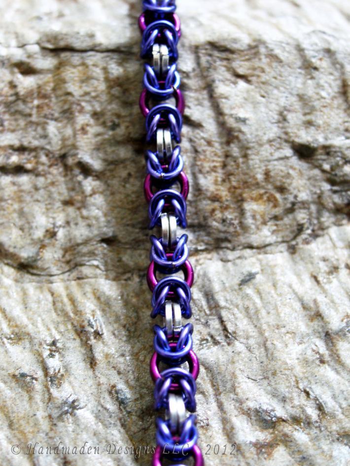 Silver Byzantine bracelet v4