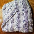 Knitted Purple Baby Blanket