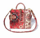 Carpet Shoulder Bag Red Agra Handmade in England