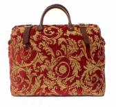 Regency Red Gold Carpet Bag