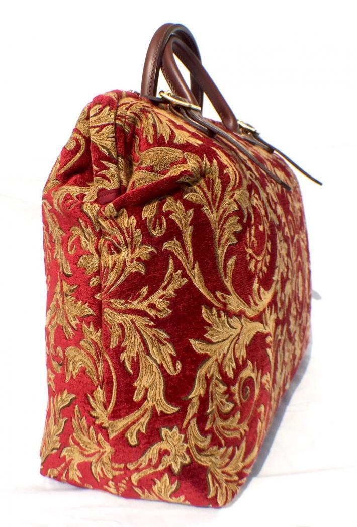 Regency Red Gold Carpet Bag