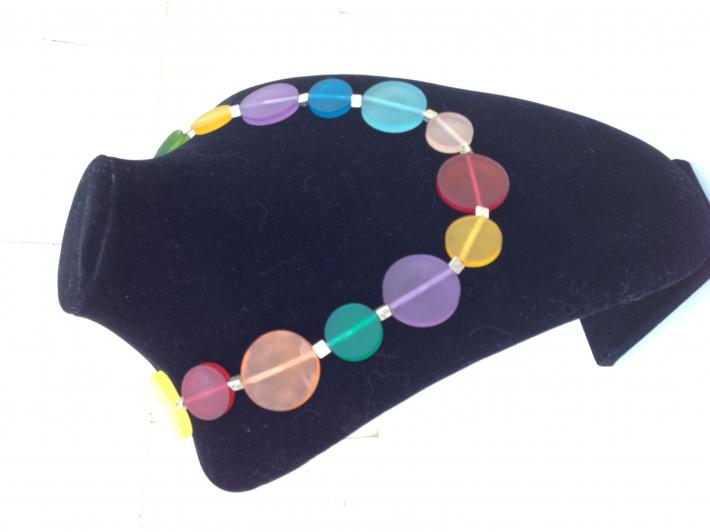 One of a Kind multi colour Resin choker Necklace  C2021
