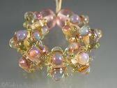 Misty Moondrops Handmade Lampwork Beads set of nine