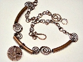 Rustic Spiral  Copper Tube Necklace