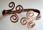 Copper Cuff with Spirals