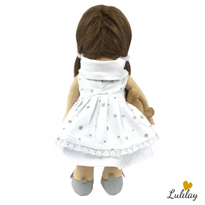 Emma – high waldorf doll carved in wool