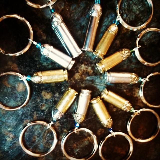 Upcycled Bullet Keychain 38 Special Swarovski Crystal