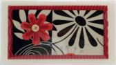 Red Flower Checkbook Cover
