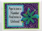 Age Humor Credit Card Case