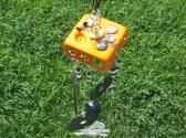 Halloween metal wind chime with ceiling box top