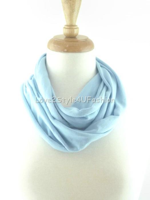 Blue Handmade Scarf Handmade Scarves Infinity Scarf Infinity Scarf Blue