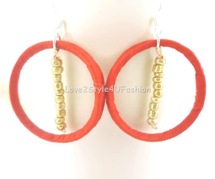 Big Red Earrings Thin Hoop Earrings Kinky Huge Hoop Earrings Dangle Earrings Red Chandelier Earrings Cherry Red Frosted Hoops