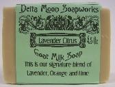 Lavender Orange and Lime Goat Milk Soap