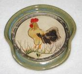 Chicken Pottery Spoon Rest