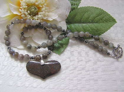 Jasper Heart Necklace
