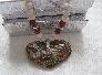Spiderweb Agate Heart Necklace