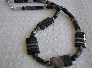 Black Eye Peas Necklace of Banded Agates