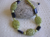 The Stone of True Love  Hand Carved Jade Necklace