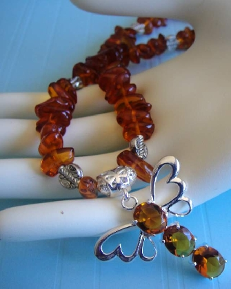 Todays Catch Baltic Amber Necklace