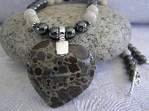 In a Frogs Eye    Frogs Eye Jasper Heart Necklace