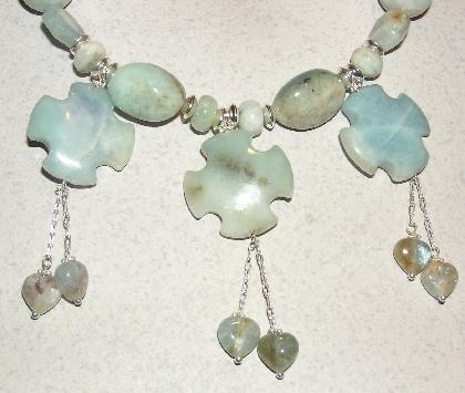 Baby Got the Blues   Aquamarine Cross Necklace