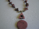 Pretty in Pink Rhodonite Necklace