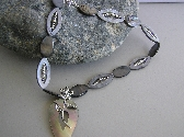 Its Blooming   Mother of Pearl and sterling silver Necklace