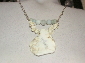 An Affair to Remember White Turquoise and Aquamarine Necklace