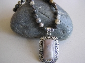 Gray Days   Agate Necklace