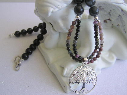 Pick Me Mom   Necklace of Tourmalines with Tree of Life