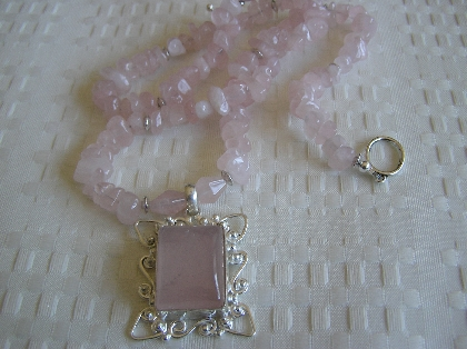 Rosy Rosy    Rose Quartz Necklace