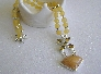 Honey in the Hive Necklace of Graviour Point Citrine and Honey Quartz