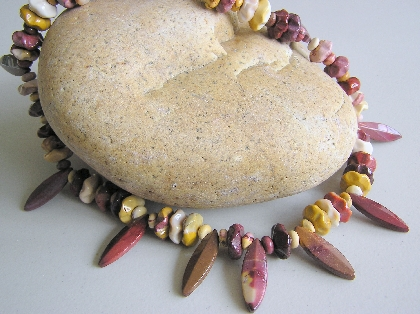 Stone from Down Under   Mookite necklace