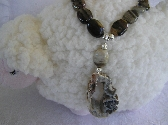 Root Beer Float Geode and Agate Necklace