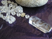 See Through  Dragon Carved Quartz Dragon Necklace