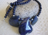 My Blue Heart              Lapis Carved Heart Necklace