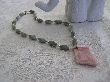 Living in Harmony Peace Jade Necklace with Peruvian Opal