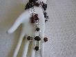 Garnet Blessing Long Garnet Amber Cross Necklace